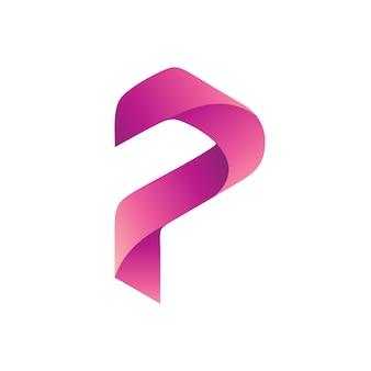 文字pロゴベクトル