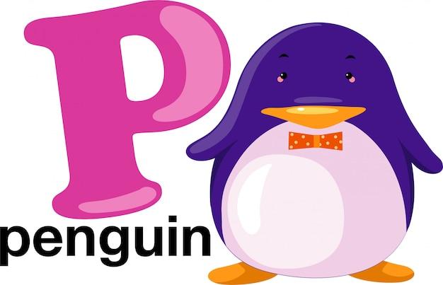 動物アルファベット文字 -  p