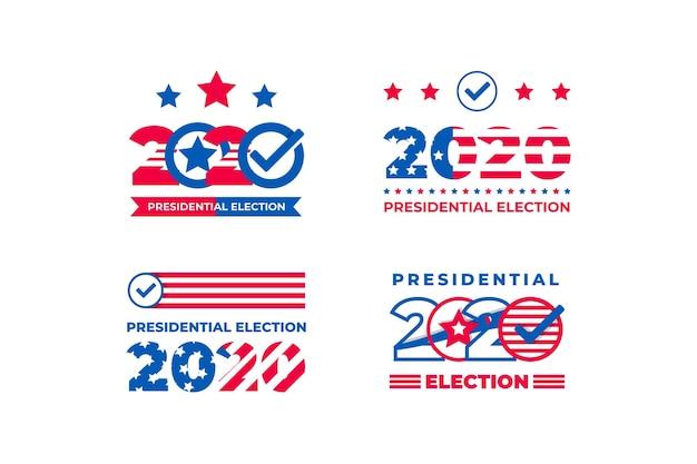 Pacchetto di elezioni presidenziali 2020 nei loghi degli stati uniti