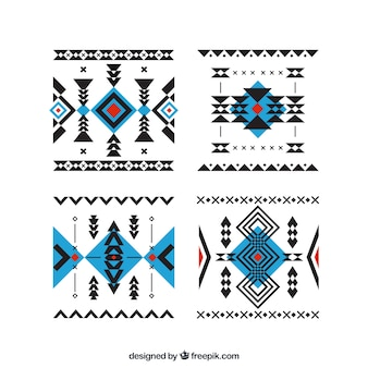 Pack of abstract ethnic forms
