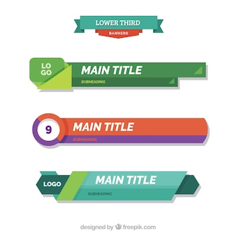 Pack of abstract lower thirds