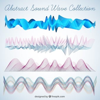 Pack of abstract sound waves