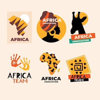 Pack of african logo templates