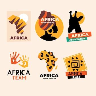 Confezione di modelli di logo africano
