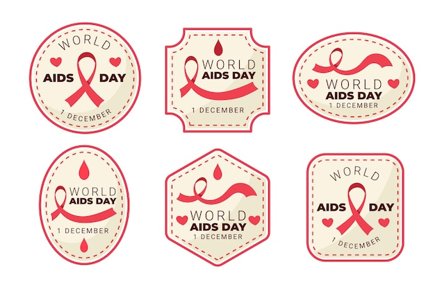 Pack of aids day labels