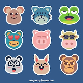 Confezione da emoticons animali