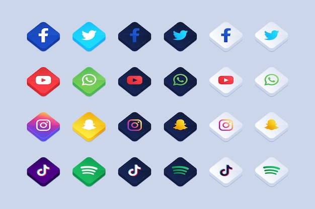 Pack of application icons
