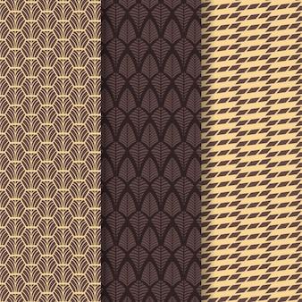 Pack ofart deco seamless pattern
