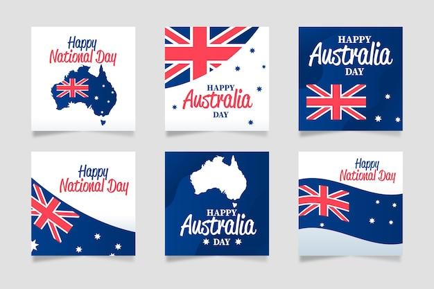 Confezione di cartoline d'auguri di australia day
