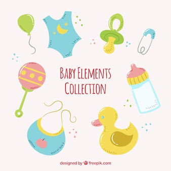 Pack of baby elements