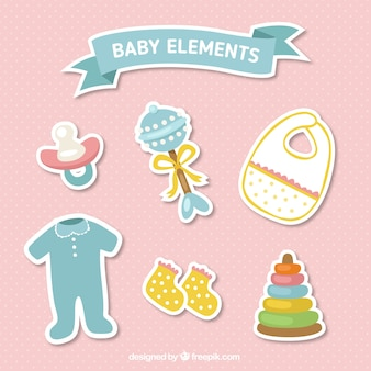 Pack of baby items stickers