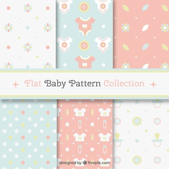 Pack of baby patterns in soft colors