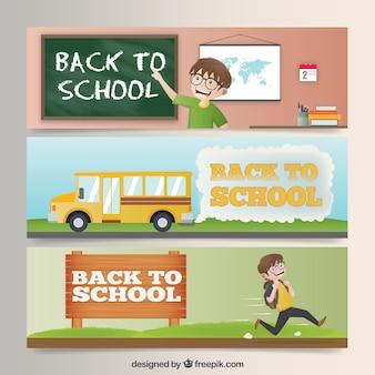 Confezione di tornare a scuola banner