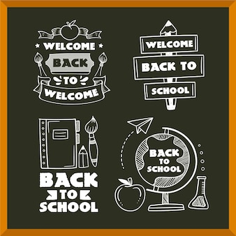 Pack of back to school labels