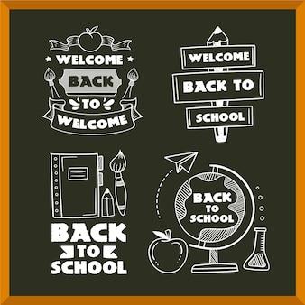 Confezione da etichette di ritorno a scuola