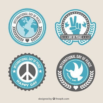 Pack of badges for international day of peace