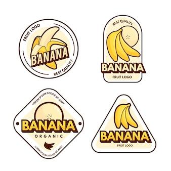 Confezione di modelli di logo di banana
