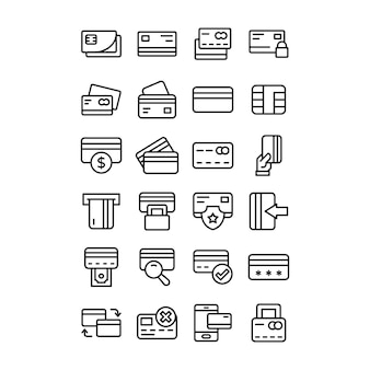Pack of banking card icons