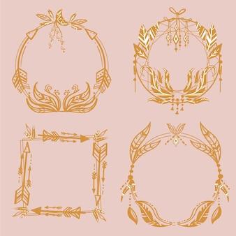Confezione di bellissime cornici boho