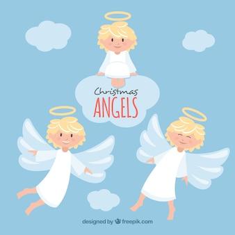 Confezione di bellissimi angeli di natale