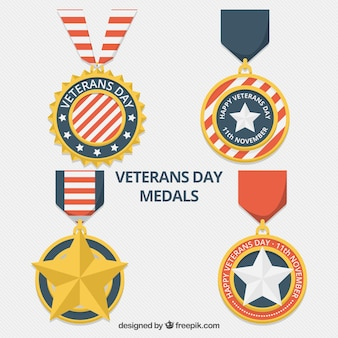 Pack of beautiful veterans day medals