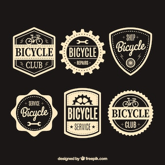 Pack of bicycles vintage labels