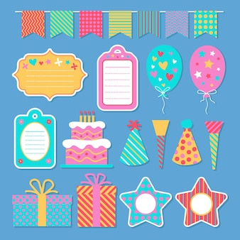 Pack of birthday scrapbook elements