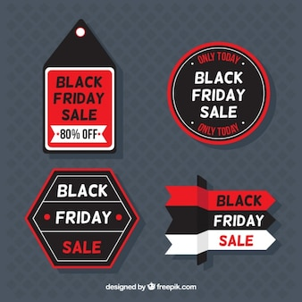 Pack of black friday stickers