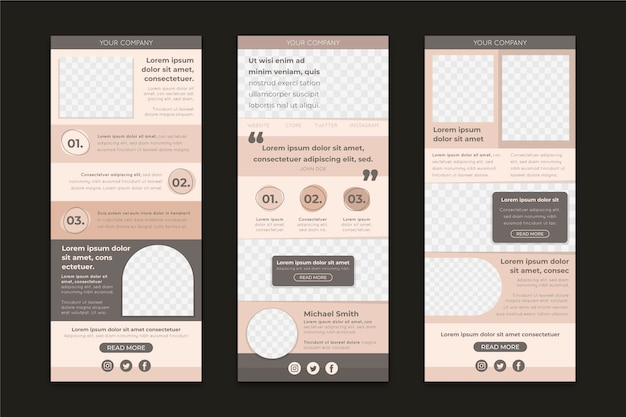 Pack of blogger email templates