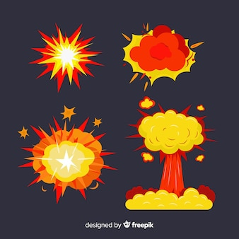 Pack of bombs and explosion effects