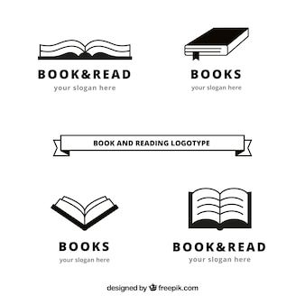 Pack of book logos