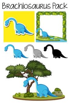 A pack of brachiosaurus