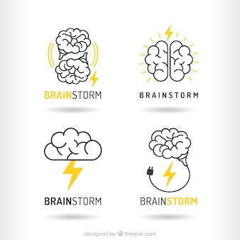 Pack of brainstorm logos