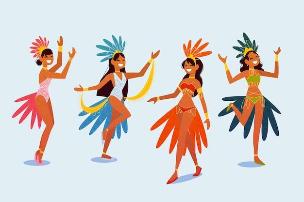 Branco di ballerini brasiliani di carnevale