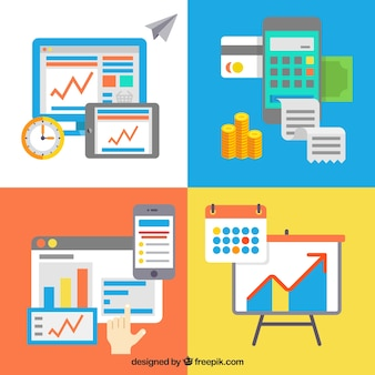 Pack of business infographic elements