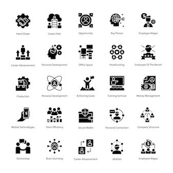 Pack of business management vector icons