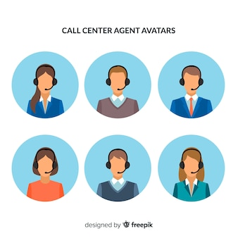 Pack of call center avatars