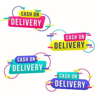 Pack of cash on delivery badges