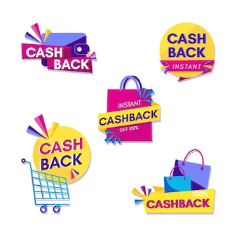 Pack of cashback labels