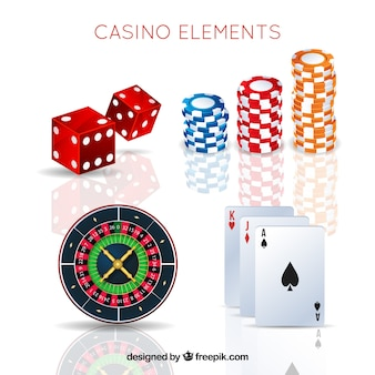 Pack of casino elements