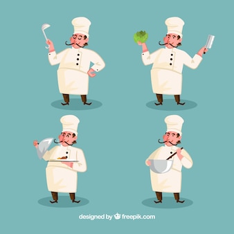Pack of chef characters