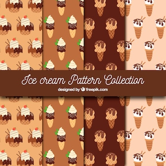Pack of chocolate ice cream patterns