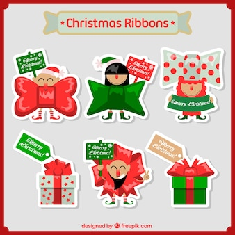 Pack of christmas gift stickers