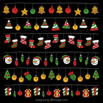 Pack of christmas lights with colorful elements