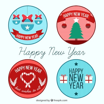 Pack of christmas and new year stickers