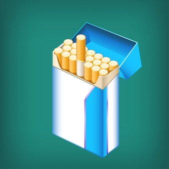 Pack cigarettes