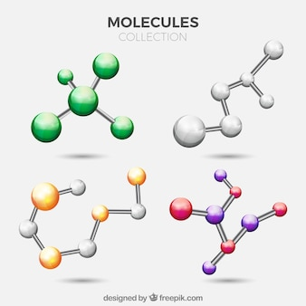 Pack of colored molecules