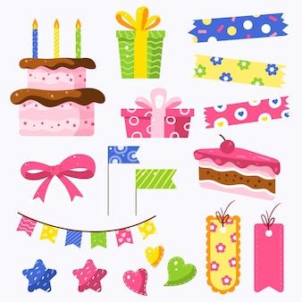Confezione di album di compleanno colorati