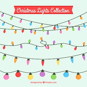 Pack of colorful christmas lights