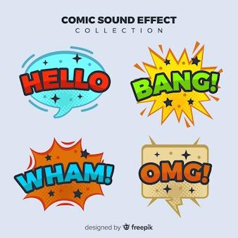 Pack of comic speech bubbles